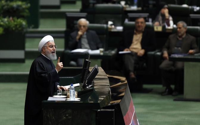 Iraani president Hassan Rouhani 10. detsembril parlamendis riigieelarvet tutvustamas.