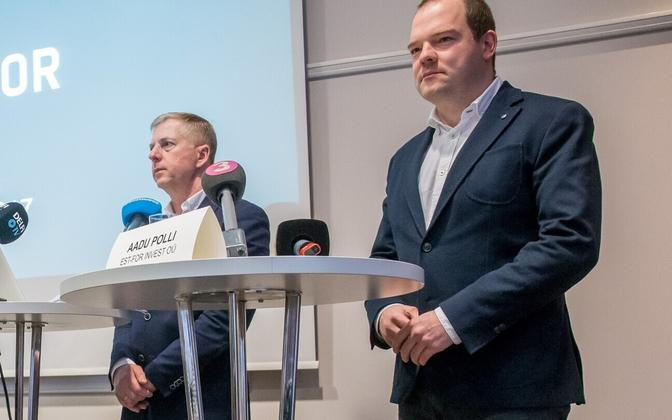 Est-For Investi esindajad Margus Kohava ja Aadu Polli.