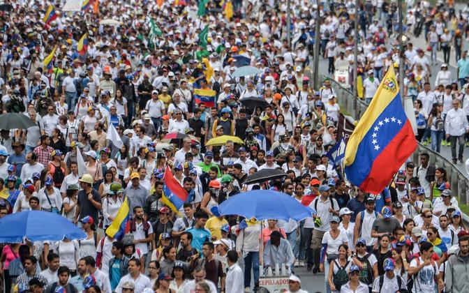 Акция протеста оппозиции Венесуэлы