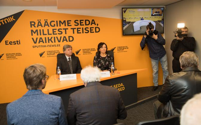 At the opening of Sputnik's Estonian press centre, February 2017.