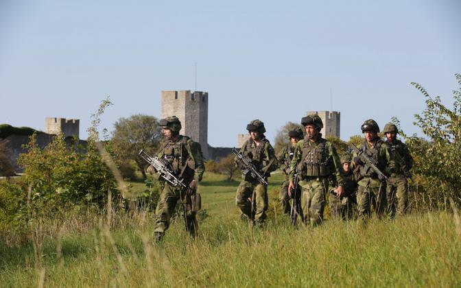 Rootsi sõdurid Gotlandi saarel, Visby lähistel.