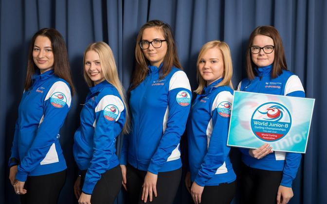 Eesti naisjuunioride curlingukoondis.