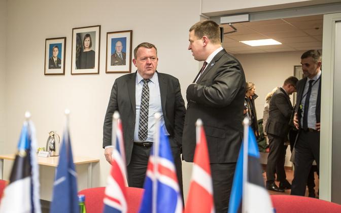 Lars Løkke Rasmussen and Jüri Ratas.