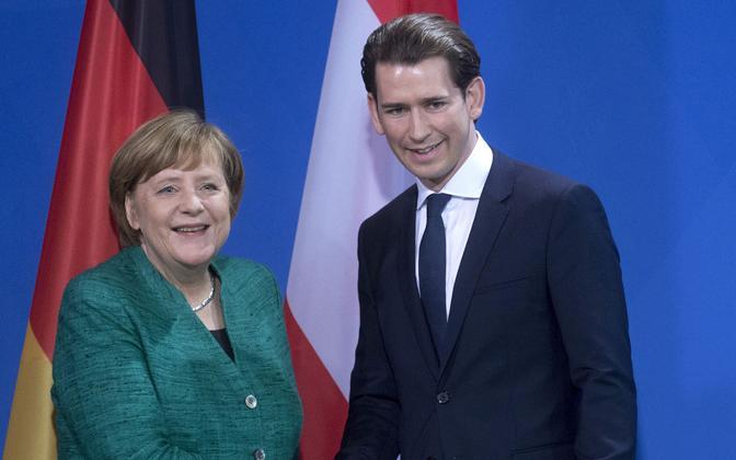 Angela Merkel ja Sebastian Kurz 17. jaanuaril Berliinis.