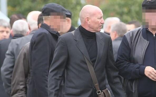 Vjatšeslav Gulevitš pictured at Nikolai Tarankov's funeral.