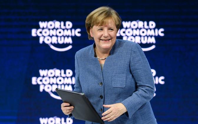 Saksamaa kantsler Angela Merkel Davosi majandusfoorumil.