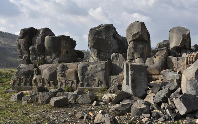 Tabamuse saanud Ain Dara tempel 27. jaanuaril.