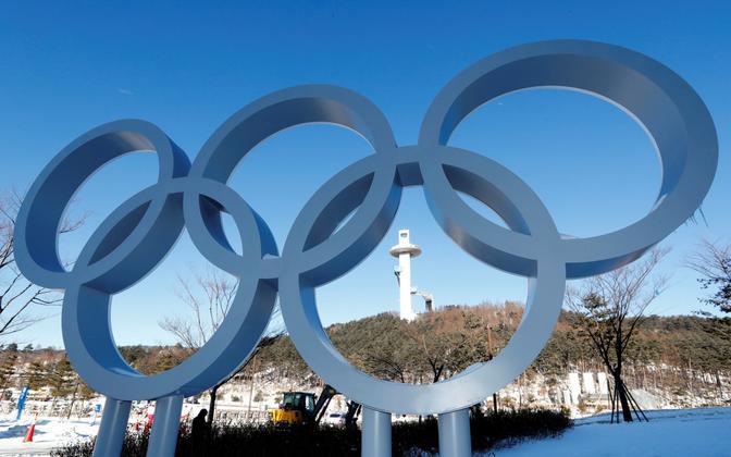 Olümpiarõngad Alpensia suusakeskuses Pyeongchangis.