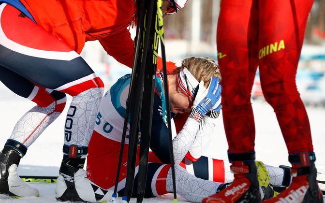 Норвежская лыжница Хага выиграла ОИ в забеге на 10 км.
