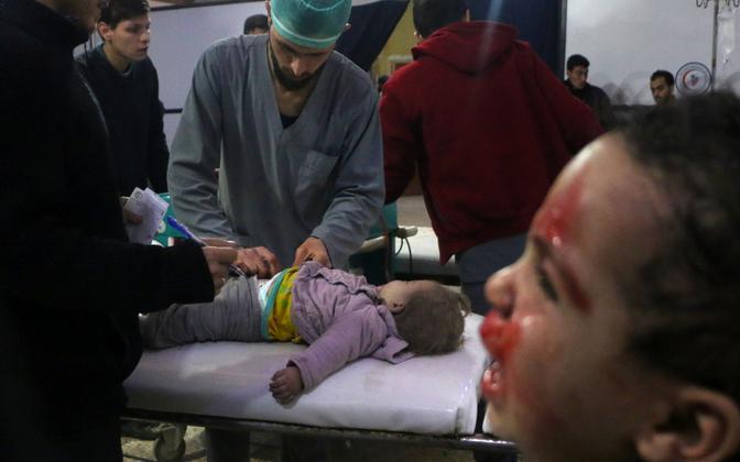 Olukord pommituskampaania all kannatava Ida-Ghouta haiglas.