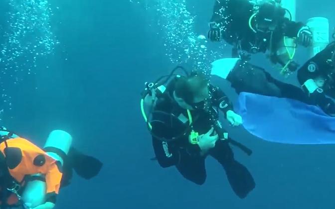 Kaader sukeldumisklubi Maremark videost