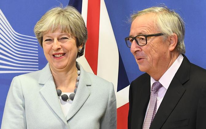 Briti peaminister Theresa May ja Euroopa Komisjoni president Jean-Claude Juncker.