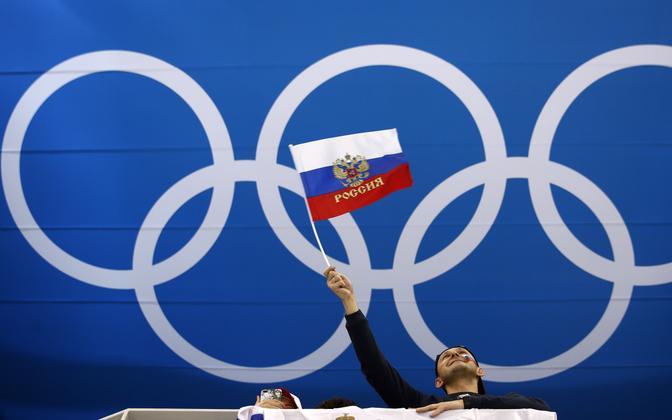 Venemaa lipp PyeongChangi olümpiamängudel
