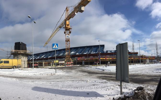 Construction work still underway at Tallinn Airport.