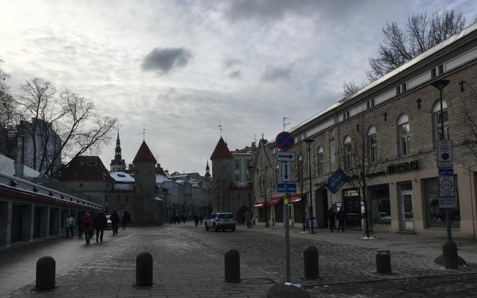 Киоски на улице Виру.