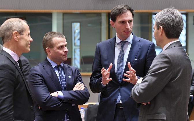 Rahandusministrid: Toomas Tõniste Eestist, Petteri Opro Soomes, Wopke Hoekstra Hollandist ja Hartwig Löger Austriast (viimane artiklis mainitud ühisavaldusega seotud ei ole).