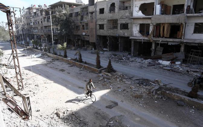 Purustused Ida-Ghouta regioonis Hamouria linnas.