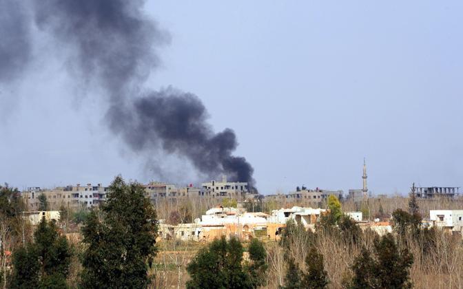 Mässuliste kontrolli all olev ala Ida-Ghoutas.