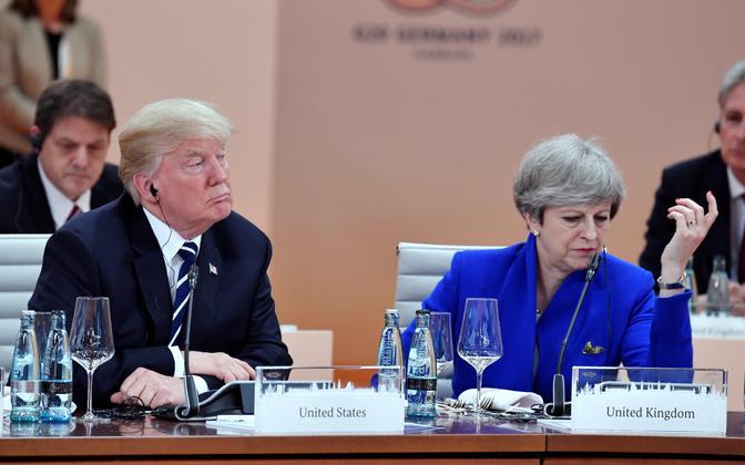 Donald Trump ja Theresa May möödunud aasta suvel G20 tippkohtumisel.