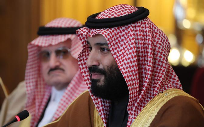Saudi Araabia kroonprints Mohammed bin Salman (esiplaanil).