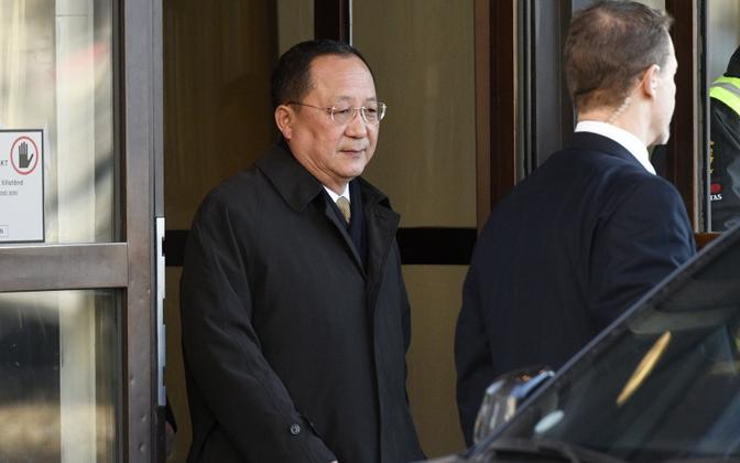 Põhja-Korea välisminister Ri Yong-ho Stockholmis..