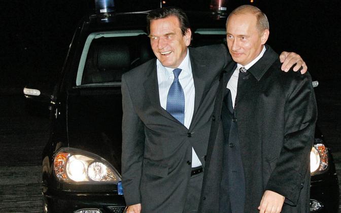 Liidukantsler Schröder ja president Putin 2005. aastal.