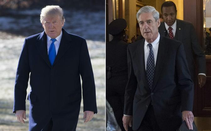 Donald Trump ja Robert Mueller.