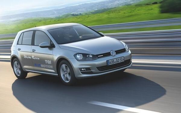 A CNG-powered Volkswagen Golf.