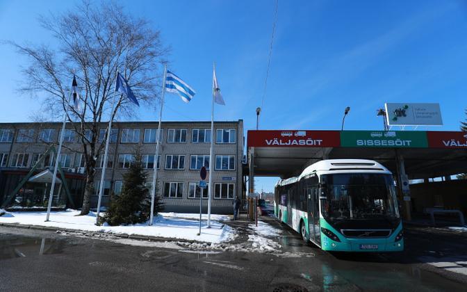 TLT office and bus depot in Tallinn.