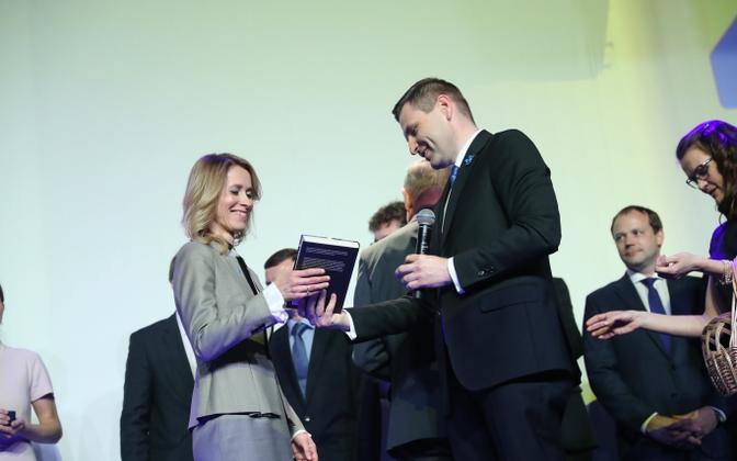 Kaja Kallas, taking over from Hanno Pevkur.