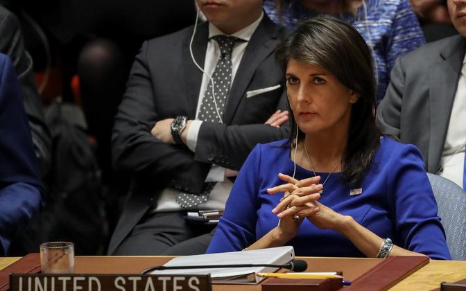 USA suursaadik ÜRO-s Nikki Haley.
