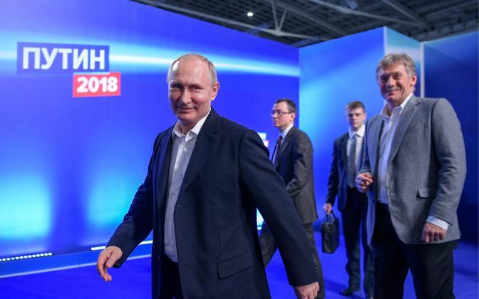 Venemaa president Vladimir Putin ja Kremli pressiesindaja Dmitri Peskov.