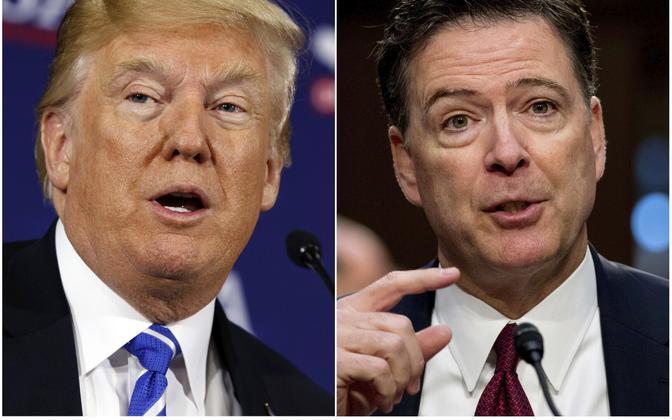Donald Trump ja James Comey.