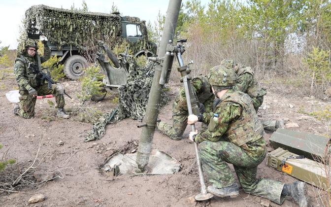 Viru jalaväepataljoni lahinglaskmised Sirgalas. Foto on illustratiivne.