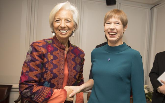IMF Managing Director Christine Lagarde and President Kersti Kaljulaid.