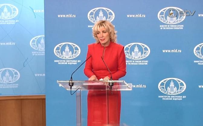 Venemaa välisministeeriumi esindaja Maria Zahharova.