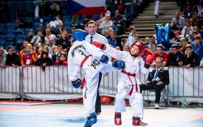 Чемпионат Европы по таэквондо продлится в Таллинне до воскресенья.