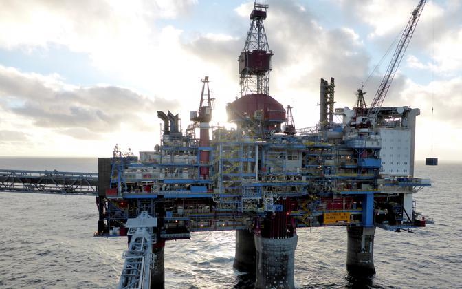 Statoili naftaplatvorm Sleipner A.