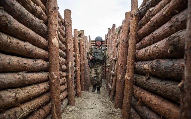 Ukraina sõdur Donbassis, arhiivifoto.