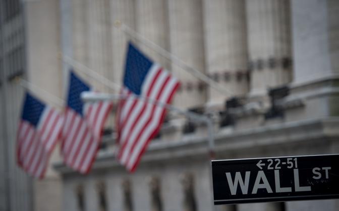 USA rahanduse peatänav Wall Street.