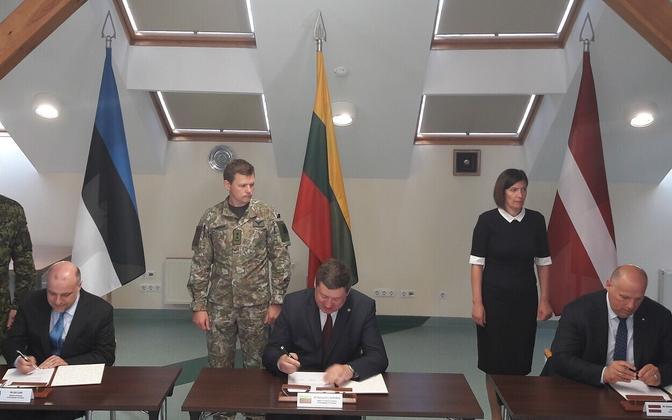 Balti kaitseministrid Leedus.