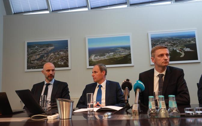 Press conference for the Port of Tallinn IPO.