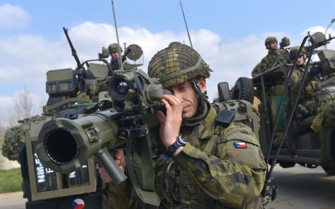 Tšehhi sõdurid NATO õppusel.