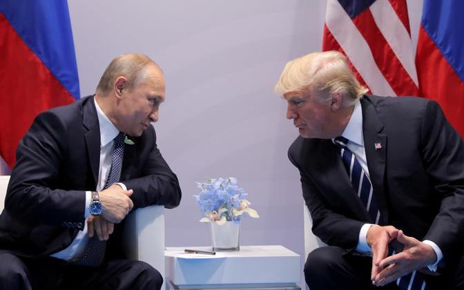 Vladimir Putin ja Donald Trump möödunud aasta juulis Hamburgis.