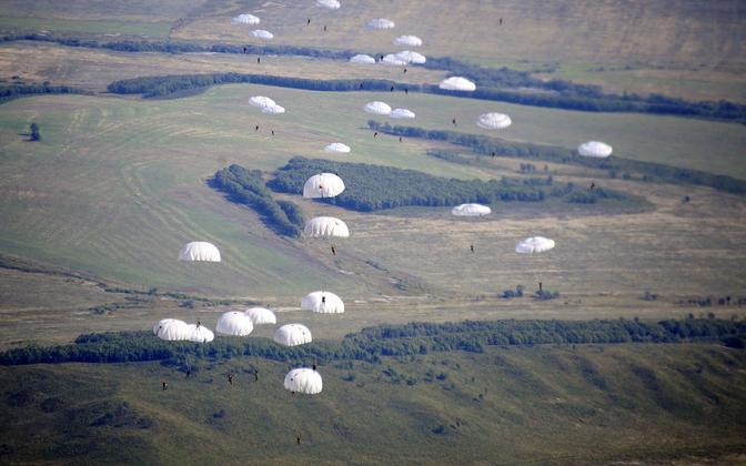 Vene õhudesstanväelaste õppused, arhiivifoto.