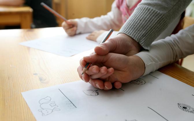 A language immersion group in Tartu's Kelluke Kindergarten.