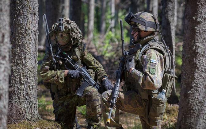 Soome sõdurid NATO õppusel.
