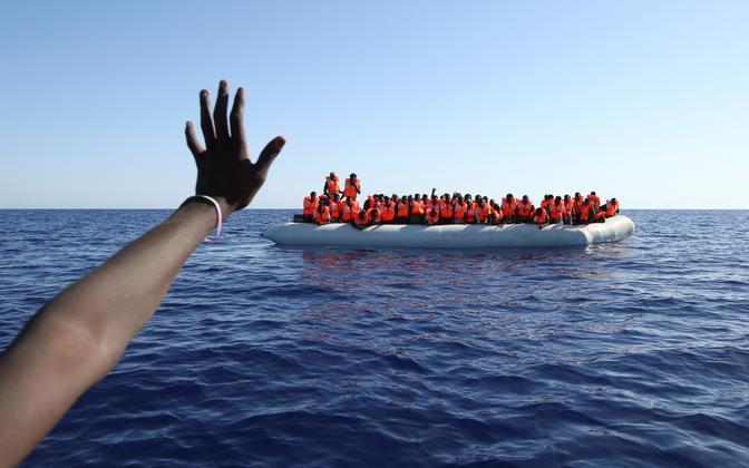 Paat migrantidega Vahemerel 2017. aastal.
