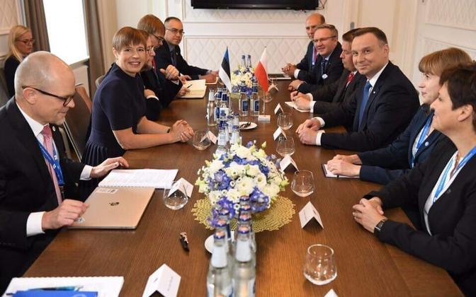 President Kersti Kaljulaid kohtus Tartus Poola presidendi Andrzej Dudaga