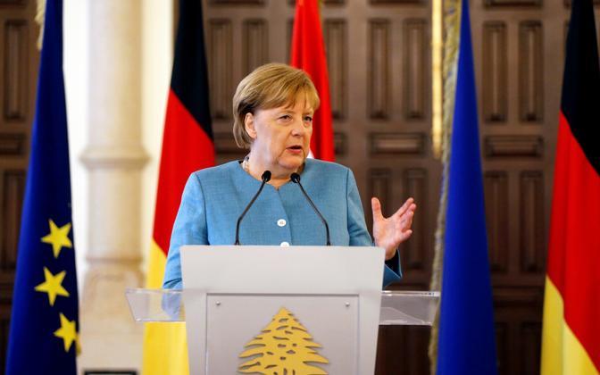 Saksamaa liidukantsler Angela Merkel 22. juunil Beirutis.
